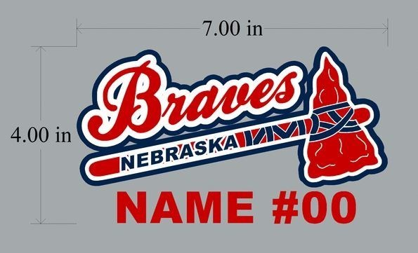 Braves Car Decal